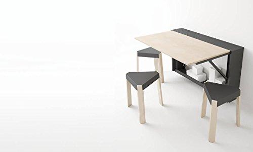Cancio - Mesa plegable plegable de pared para cubrir radiadores, para sillas y cajas, 80 x 20 cm, estructura antracita