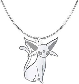 Collana Espeon Pokémon, Sterling Silver o placcato oro 18K, gioiello regalo amicizia, migliori amici