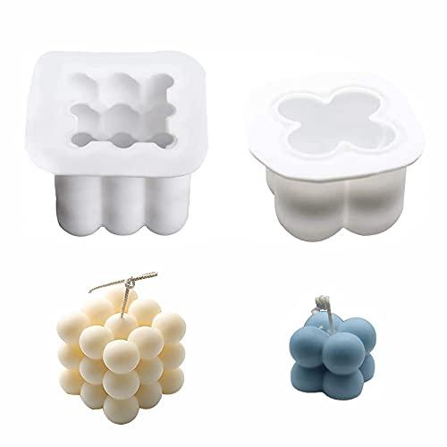 Molde de Vela Cubo,Molde para Velas 3D Molde de Silicona,Moldes de Vela de silicona,Molde para Velas 3D Molde de Silicona,Molde de Vela Silicona.
