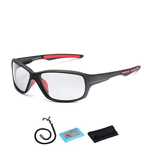 Occhiali da ciclismo Lente cambiante di colore dell'attrezzatura esterna degli occhiali da sole di ciclismo di pesca degli occhiali di sport polarizzati fotocromatici uomini donne della bici,a