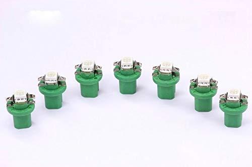 7x grüne high Power B8.5D LED Tachobeleuchtung Umbauset