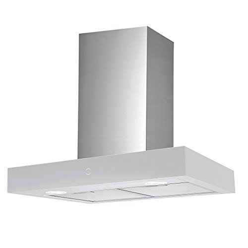 Vlano/RHEA 600 WH/Kopffreie Dunstabzugshaube/Glas-Edelstahl weiß/Invisible Touch/ECO LED / 60 cm / 65 dB