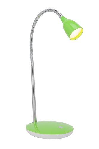 Brilliant Anthony LED Tischleuchte 40cm Flexarm eisen/grün Büro 200 Lumen, LED integriert