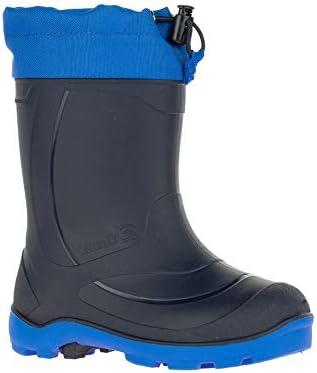 Kamik Kids Snobuster1 Winter Boots & Knit Cap Bundle