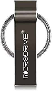 QGT USB Flash Drives 4GB USB 2.0 Metal Keychain U Disk (Black) (Color : Black)