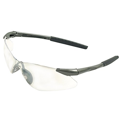 Jackson Safety 20470 V30 Nemesis VL Safety Eyewear, Polycarbonate Anti-Scratch Lenses, Gunmetal Frame