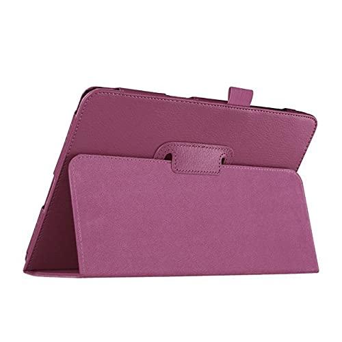 LIUCHEN Funda de tabletaSoporte de la caja de la tableta Soporte abatible Cubierta de cuero de la PU para Samsung Galaxy Tab A 9.7 pulgadas T550 T555 P550 SM-T550 T555 SM-P550 Funda, T550 P550 púrpura