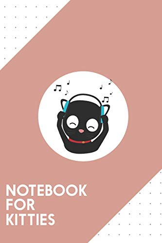 """Notebook for Kitties: Dotted Journal with Music Cat with headphones Design - Cool Gift for a friend or family who loves headset presents! 