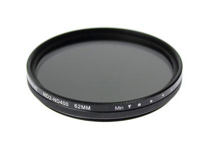 SONY FDR-AX700/FDR-AX100用 互換可変ND(ND2~ND400) フィルター 62mm