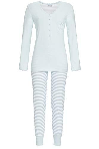 Ringella Lingerie Damen Pyjama mit Knopfleiste eisblau 42 0561216, eisblau, 42