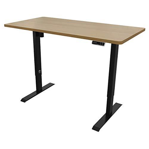 Dellonda Single Motor Height-Adjustable Electric Sit & Stand Desk with Control Panel & Memory Function - Oak Desktop