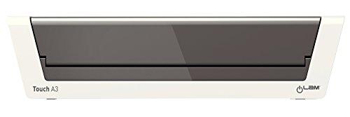 Leitz A3 Laminiergerät, Touch 2, Ideal für Büro und Schule, Inkl. Laminierfolien Starterkit, Weiß Hochglanz/Anthrazit, iLam, 74744000