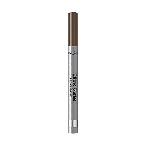 L'Oréal Paris Brow Artist Micro Tatouage 105 Brunette, Augenbrauenstift mit Dreizack-Spitze für einen langanhaltenden Microblading-Effekt