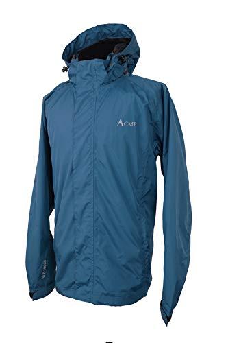 Acme Projects Regenjacke 100% wasserdicht, atmungsaktiv, Klebebandnaht, 10000 mm / 3000 g, YKK-Reißverschlüsse Männer, XXX-groß Marine