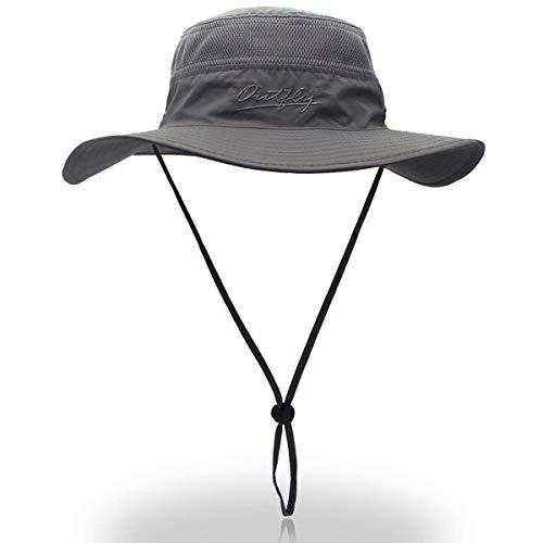 None Wide Brim Sonnenhut Mesh Bucket Hut Leichtgewicht Bonnie Ten Hut Outdoor Perfekt Verschiedene Unikat Style Farben (Color : Grey, Size : One Size)