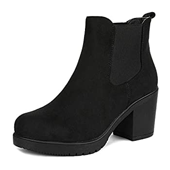 DREAM PAIRS Women s Fre Black High Heel Ankle Boots Size 7.5 B M  Us