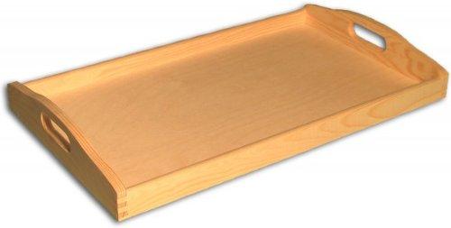 MidaCreativ großes Holz-Tablett 50 x 30 cm, Kiefer unbehandelt