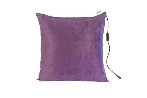 Comfy Massagekissen mit Wärmefunktion | Farbe Lila | 40 x 40 cm | Entspannt Rücken, Nacken, Kopf & Schultern