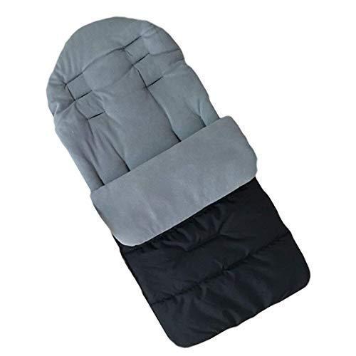 MHOYI - Saco de dormir para bebé forro de algodón, para asiento de cochecito de bebé,cómodo y universal,cálido,para invierno,resistente al viento,al calor,carrito de bebé,cojines de algodón