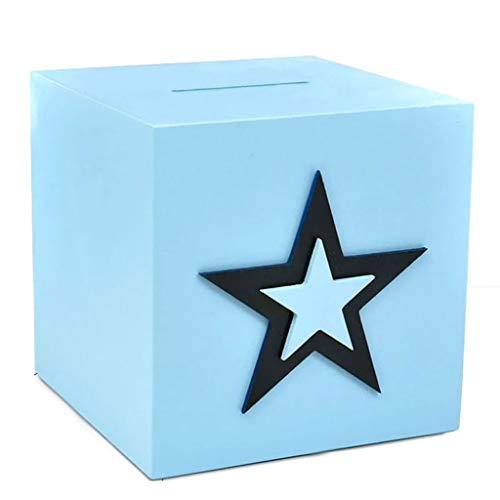 Nostalgie Hucha Billete De Monedas De Monedas De Gran Alcance Billetes De Doble Uso De La Gran Capacidad para Cumpleaños, Pascua, Baby Shower (Azul) Caja de Efectivo