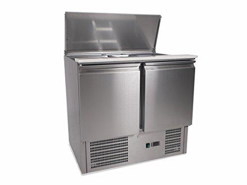 Zorro - Saladette ZS900-2 Türen - Kühltisch mit Deckel - Salatkühlung - Gastro Kühltheke