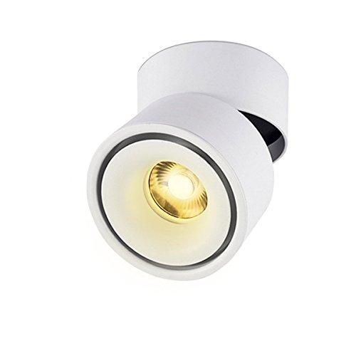 LANBOS luz de techo LED Lámpara de pared - luz de techo y pared, Led Downlight,Focos para el techo, luz blanca cálida, 3000K,10 W, IP20, 10X10CM, Blanco