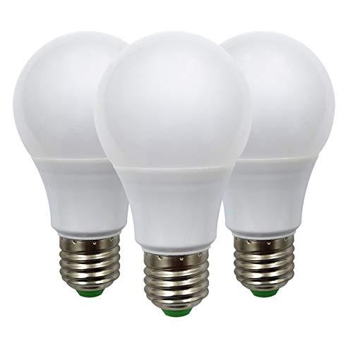 E27 Led Glühbirne 12V AC/DC 5W (A60 50W Halogen Birnen) Niederspannung Edison Screw in Glühbirnen Warmweiß für Off Grid Solar Beleuchtung RV Boot Innenbeleuchtung, 3er Pack [MEHRWEG]