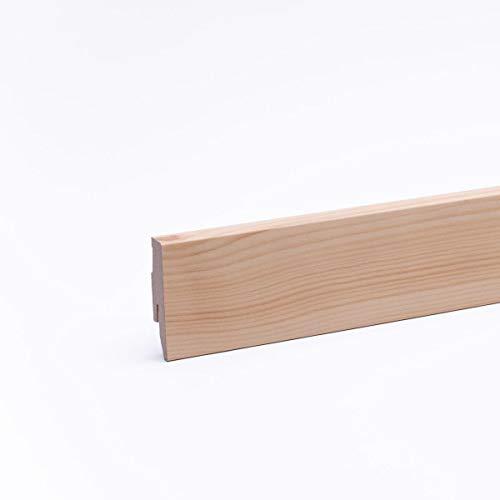 Sockelleiste - Fußleiste 60 x 20 x 2.600mm Dekor Kiefer