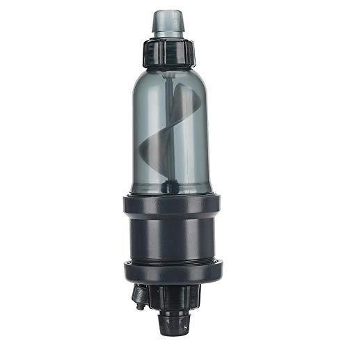 Nannday 【 】 Disolvente de CO2 en Espiral con Control de Flujo, Disolvente de plástico ABS para CO2, Fluoroscopio para acuarios Filtro Externo Disolución de CO2