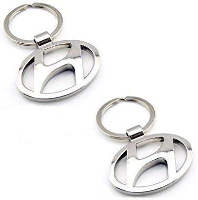 Motoway Hyundai Logo Metallic Car & Bike Key Chain (Pack of 2)