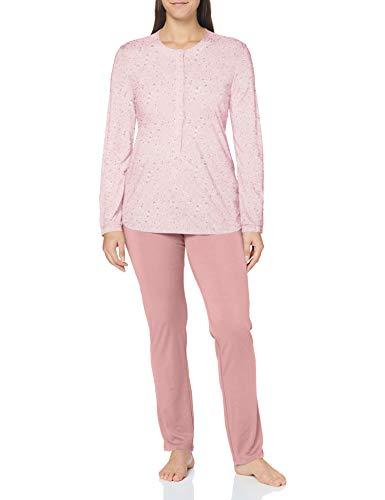 Schiesser Damen Anzug lang Pyjamaset, rosé, 38