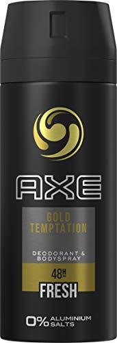 Axe Deospray Gold Temptation ohne Aluminiumsalze, 150 ml, 3er Pack (3 x 150ml)