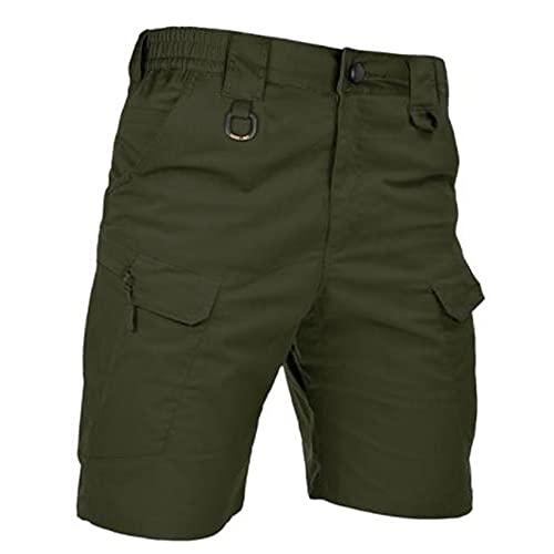 N\P Pantalones cortos para hombre Urban Militar con bolsillos Ripstop Bermudas Cargo Work Corto al aire libre Casual