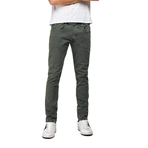 Replay Herren Anbass Jeans, Grün (Military Green 30), 30W / 32L