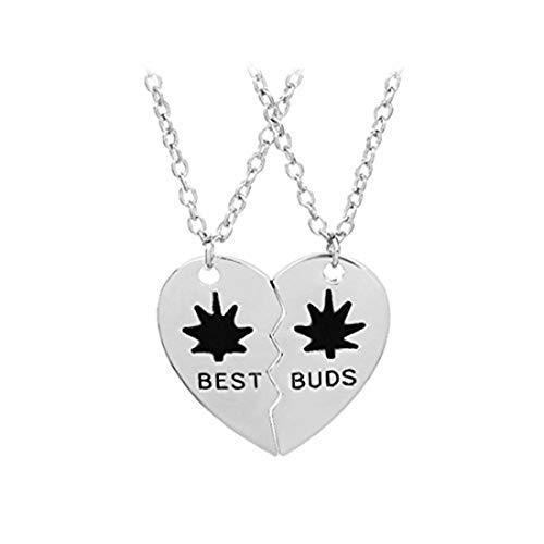 Youkeshan Best Buds - Juego de collar con brotes y collares para mejor amiga