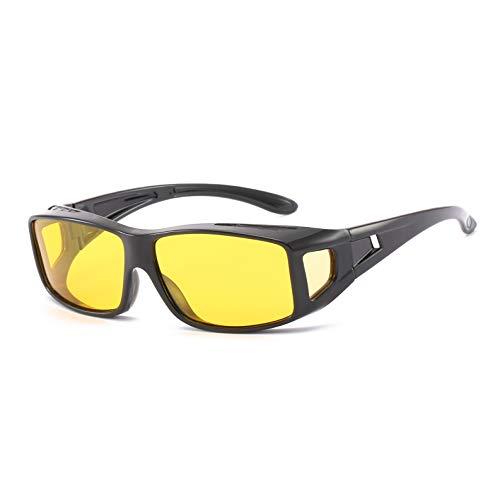 SUNSEATON Gafas de Visión Nocturna para Conducir, con Lente Liviana Polarizada de Marco Liviano, Viga Anti-alta y Arena a Prueba de Viento, para Hombres y Mujeres