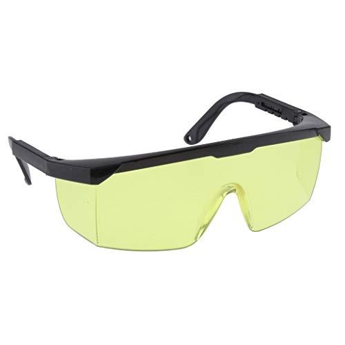 perfk Soldadura Gafas Gafas Protección Ocular Soldadores Soldadura - Amarillo, 15X5X4CM
