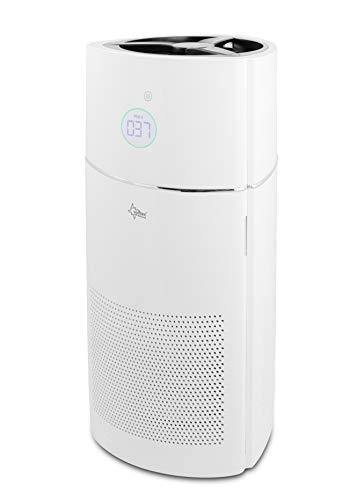 SUNTEC Luftreiniger AirCare 3000 AirMonitor gegen 99,97% der Viren und Bakterien in der Wohnung | ca 100 m2 Raumabdeckung | Air Purifier mit HEPA H13 und Aktivkohle Filter + Ionisator | für Allergiker