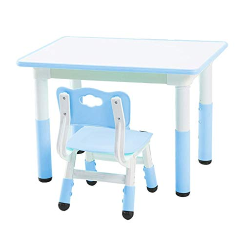 qazxsw Children's Desks and Chairs Liftable Game Table Learning Small Table Very Healthy and Safe Protection Furniture Tables