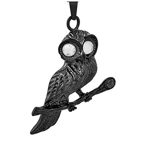 Wxcvz Collar para Cenizas Forma De Águila Joyería Conmemorativa Titular De Cenizas De Acero Inoxidable Collar De Urna De Cremación De Recuerdo Colgante De Caja Pequeña para Mascotas