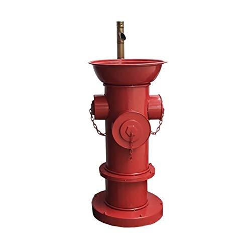 FINDYU Lavabo con Grifo Estilo Industrial Boca De Incendio De Pie Lavabo del Baño Retro Metal Planchar Robusto Lavabo (Color : Rojo)