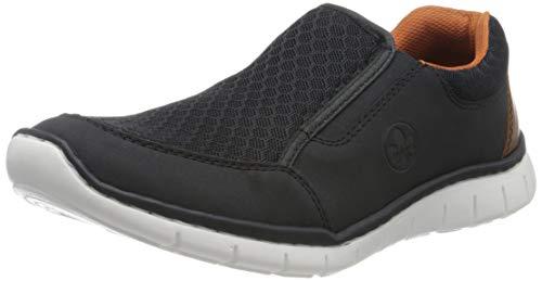 Rieker Herren Frühjahr/Sommer B8769 Slip On Sneaker, Blau (Pazifik/Navy/Amaretto/ 14 14), 43 EU