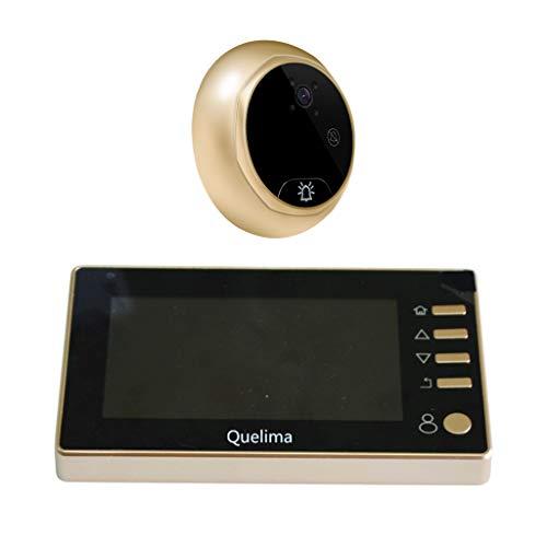 Almencla Visor de Puerta Mirilla Electrónica Inteligente Smart Timbre La Pantalla LCD Instrumento de Nocturna por Infrarrojos