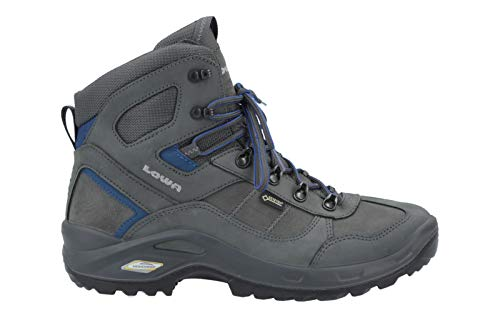Lowa Herren Trekking-Schuh Stratton DLX GTX Mid All Terrain anthrazit / blau, Größe:44
