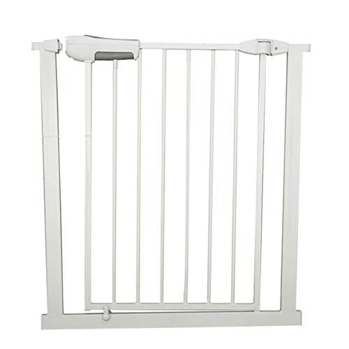 Barrière de sécurité Porte étroite pour Porte à Ajustement serré pour Porte - Porte intérieure pour Chien/Animal, métal Blanc, Largeur 65-194cm (Taille : Width 185-187cm)
