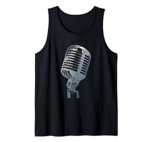 Micrófono vintage para cantantes, micrófono retro Camiseta sin...