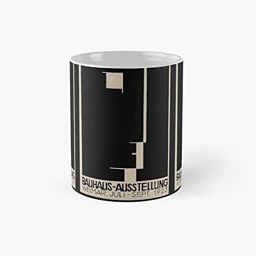 Bauhaus Logo On 1923 Weimar Advertisement Classic Mug   Mejor regalo divertido tazas de café 12 oz
