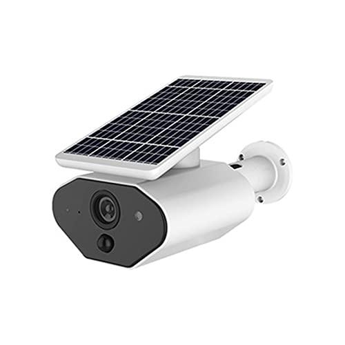 Cámaras de Vigilancia Camaras de Seguridad Exterior Interior Inalambrica con Audio Placa Solar HD WiFi Impermeable 1080P,White