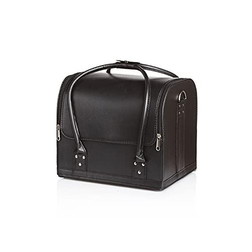 Vivezen ® Sac, valise à maquillage avec poignée de transport - 24 x 25,5 x 29,5 cm - Noir