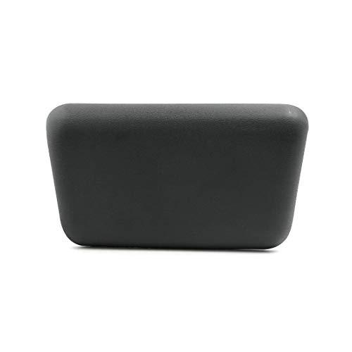 YeVhear - Cojín de baño de espuma de 10,16 x 5 pulgadas, color gris oscuro con ventosas